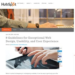 8 Guidelines for Exceptional Web Design, Usability, and User Experience