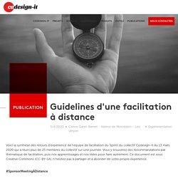 Guidelines d'une facilitation à distance