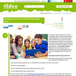 Guidelines on How to Find the Best Math Tutor on Tildee