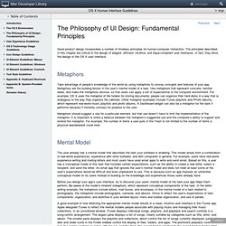 OS X Human Interface Guidelines: The Philosophy of UI Design: Fundamental Principles