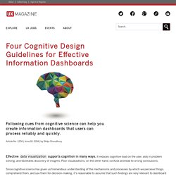 Four Cognitive Design Guidelines for Effective Information Dashboards