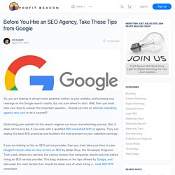 Before You Hire an SEO Agency, Take These Tips from Google
