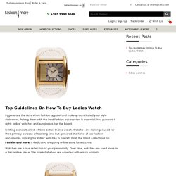 Top Guidelines On How To Buy Ladies Watch