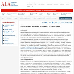 Library Privacy Guidelines for Students in K-12 Schools