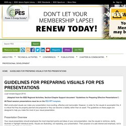 Guidelines for Preparing Visuals for PES Presentations - IEEE Power and Energy Society