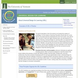 Guidelines and Principles : About UDL : Universal Design For Learning : University of Vermont