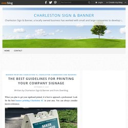 The Best Guidelines for Printing Your Company Signage - Charleston Sign & Banner