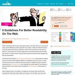 8 Guidelines For Better Readability On The Web