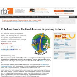 RoboLaw: Inside the Guidelines on Regulating Robotics