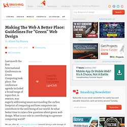 "Making The Web A Better Place: Guidelines For ""Green"" Web Design - Smashing Magazine"