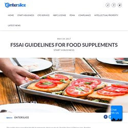FSSAI Guidelines for food Business – enterslice