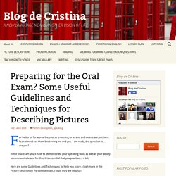 Preparing for the Oral Exam? Some Useful Guidelines and Techniques for Describing Pictures