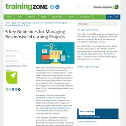 5 Key Guidelines for Managing Responsive eLearning Projects