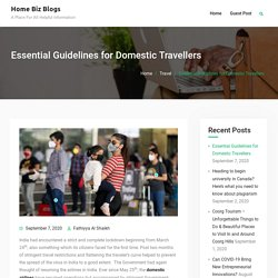Essential Guidelines for Domestic Travellers