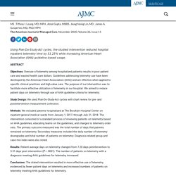 AHA Telemetry Guidelines Improve Telemetry Utilization in the Inpatient Setting