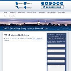VA Mortgage Guidelines For Veterans