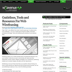 Guidelines, Tools and Resources For Web Wireframing