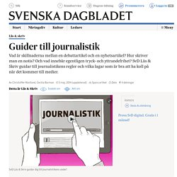 Guider till journalistik