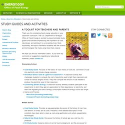 Department of Energy - Study Guides and Activities