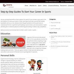 Step-by-Step Guides to Start Your Career in Sports – Sportsshala Blog