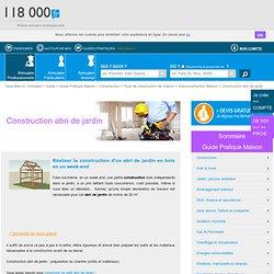 Construction abri de jardin - 118000.fr