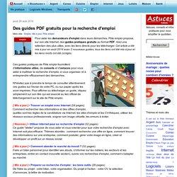 Des guides PDF gratuits pour la recherche d'emploi