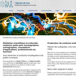 Guides numériques, production audio