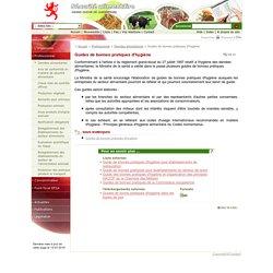 SECURITE-ALIMENTAIRE_PUBLIC_LU - Guides de bonnes pratiques d'hygiène. Guide de bonnes pratiques d'hygiène pour établissements de restauration Guide de bonnes pratiques pour établissements du secteur de soins Guide des bonnes pratiques d'hygiène et d'a