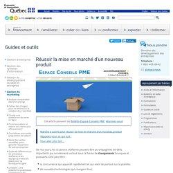 Guides et outils / Réussir la mise en marché d'un nouveau produit-MEI