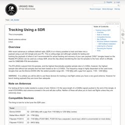 guides:sdr_tracker [UKHAS Wiki]