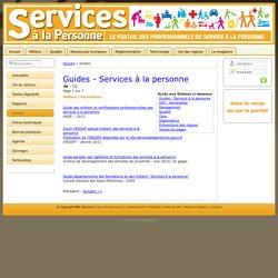 Guides sur le service à la personne