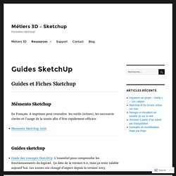 Guides SketchUp – Métiers 3D – Sketchup