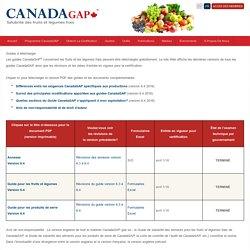 CANADAGAP 06/04/16 GUIDE DE SALUBRITÉ DES ALIMENTS POUR LES FRUITS ET LÉGUMES FRAIS DE CANADAGAP