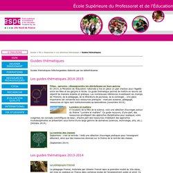 Guides thématiques - ESPE