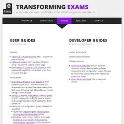 Guides: Transforming Exams