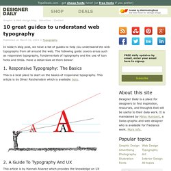 10 great guides to understand web typography