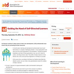 Guiding the Hand of Self-Directed Learners