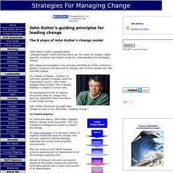 John Kotter's Guiding Principles for Leading Change