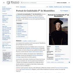 Portrait de Guidobaldo Ier de Montefeltro