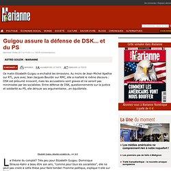Guigou assure la défense de DSK... et du PS