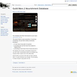 Guild Wars 2 Nourishment Database - Basin Wiki