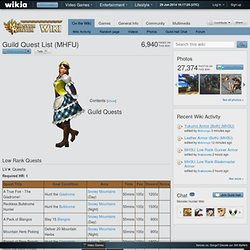 Guild Quest List (MHFU)
