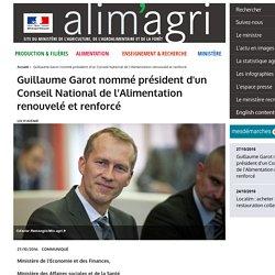 MAAF 27/10/16 Guillaume Garot nommé président d'un Conseil National de l'Alimentation renouvelé et renforcé