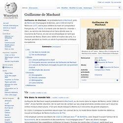 Guillaume de Machaut compose selon l'ars nova