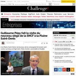 Guillaume Pépy fait la visite du nouveau siège de la SNCF à la Plaine Saint-Denis- 5 novembre 2013