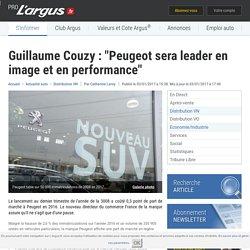 """Guillaume Couzy : """"Peugeot sera leader en image et en performance"""" – L'argus PRO"""