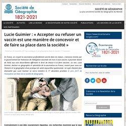 Lucie Guimier: «Accepter ou refuser un vaccin est une manière de concevoir et de faire sa place dans la société»