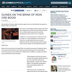 Guinea on the brink of iron ore boom