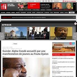 Guinée: Alpha Condé accueilli par une manifestation de jeunes au Fouta Djalon - Guinée