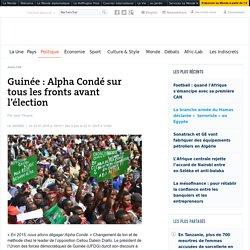 Guinée: Alpha Condé sur tous les fronts avant l'élection
